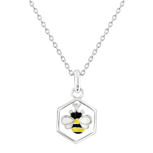 Dew Dinky Bee and Combe Pendant Necklace