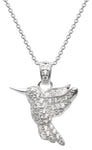 Dew Heavenly Humming Bird Sterling Silver and CZ Pendant