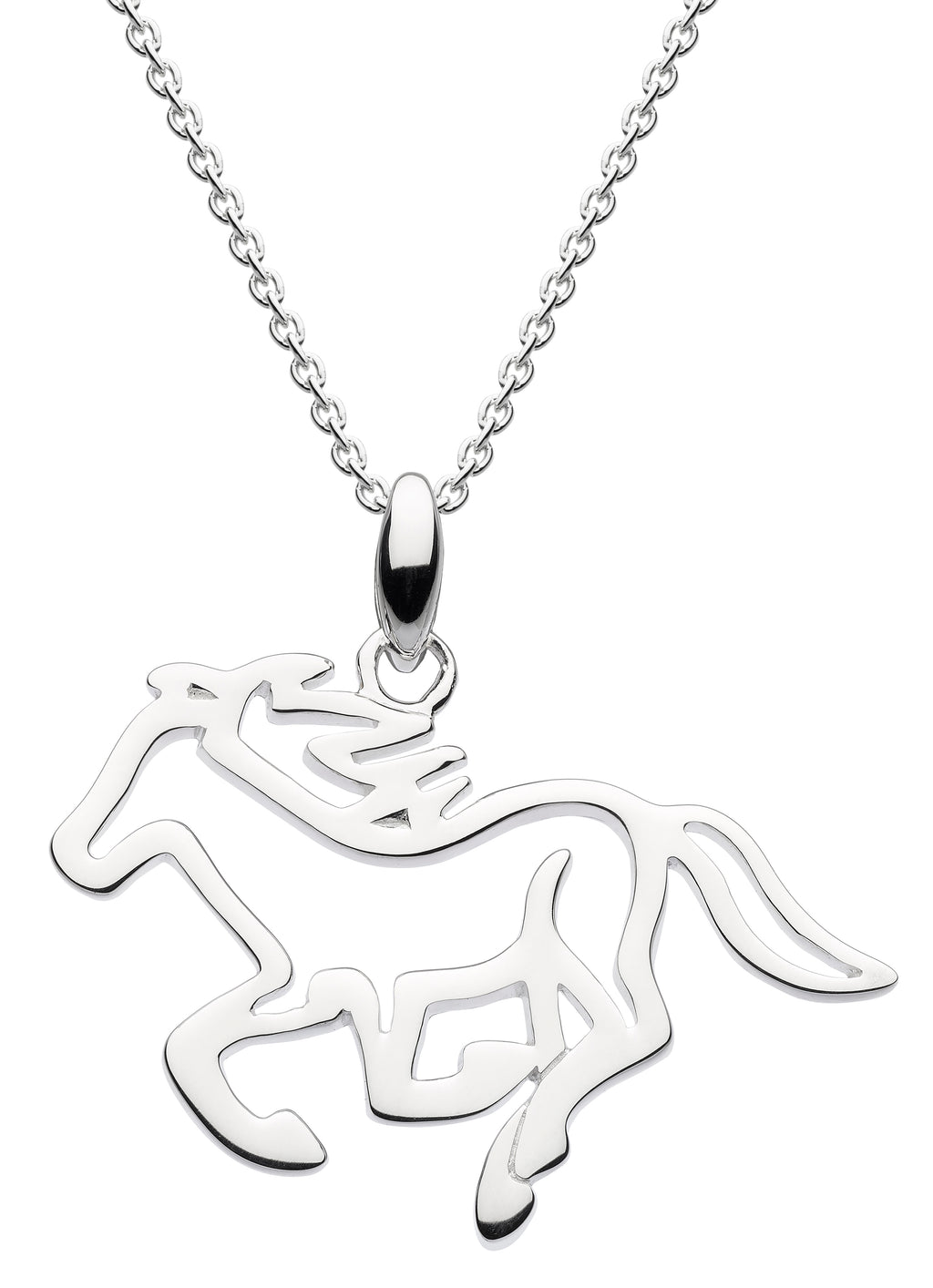 Dew Sterling Silver Galloping Horse Pendant