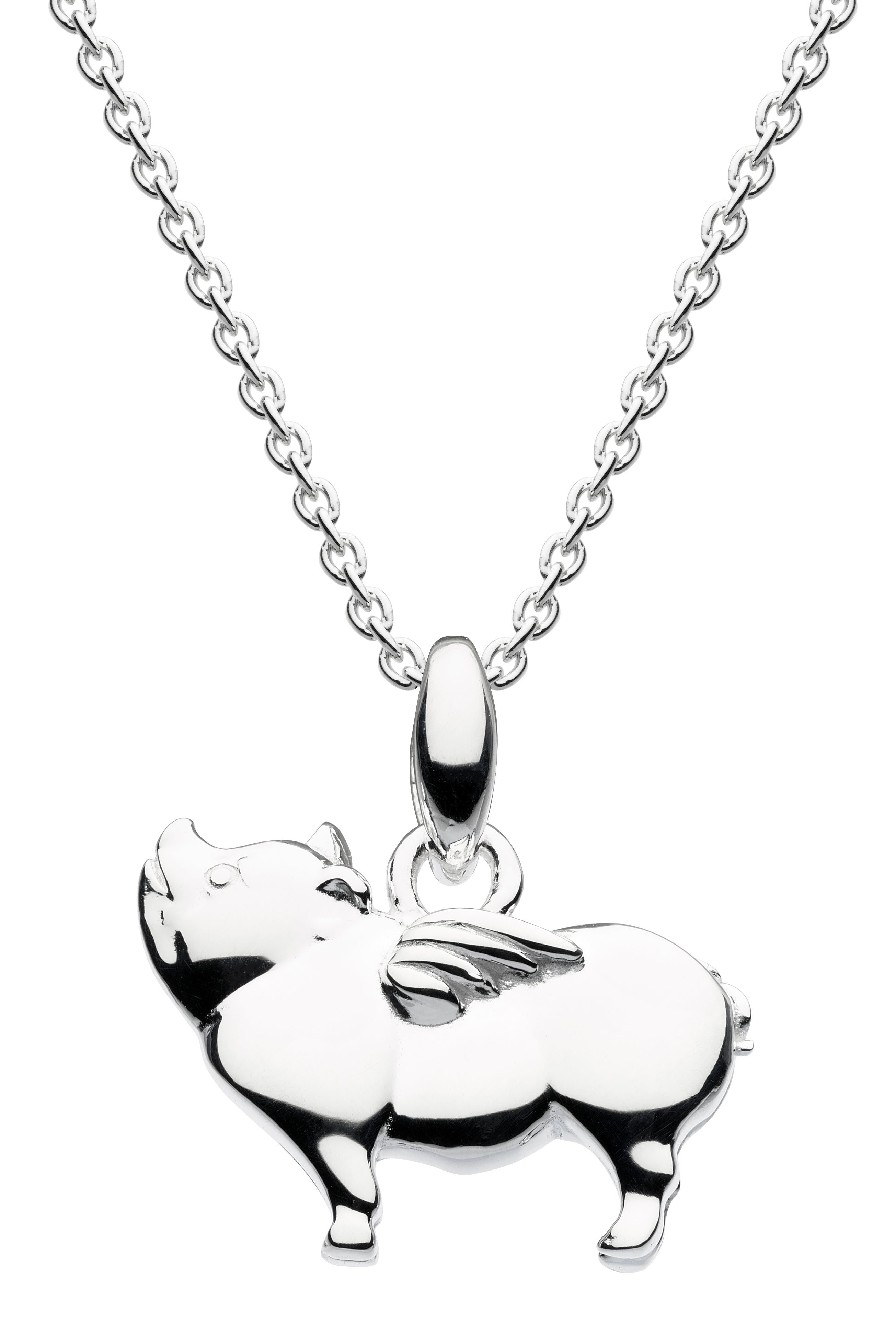 3D flying pig pendant and chain