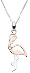Dew Pretty Pink Flamingo Rose Gold Pendant