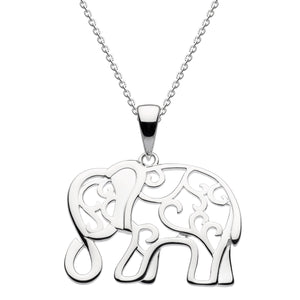 Dew Filigree Sterling Silver Elephant Pendant