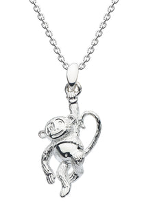 Dew Sterling Silver Cheeky Monkey Pendant