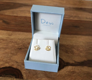 Dew Honey Bee Yourself Gold Plated Bee Stud Earrings