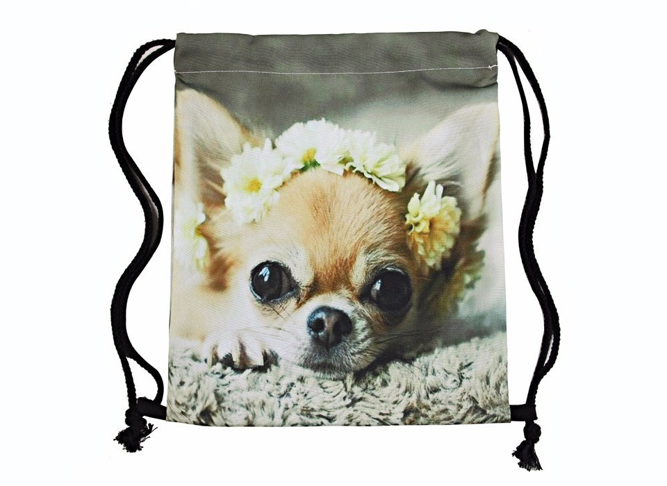 Chihuahua Drawstring Bag