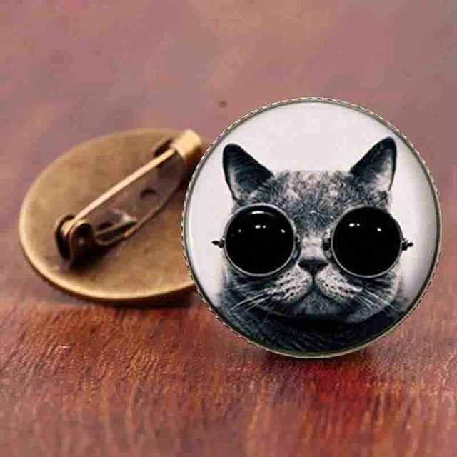 Fun Cat Cartoon Brooch - 18 different designs