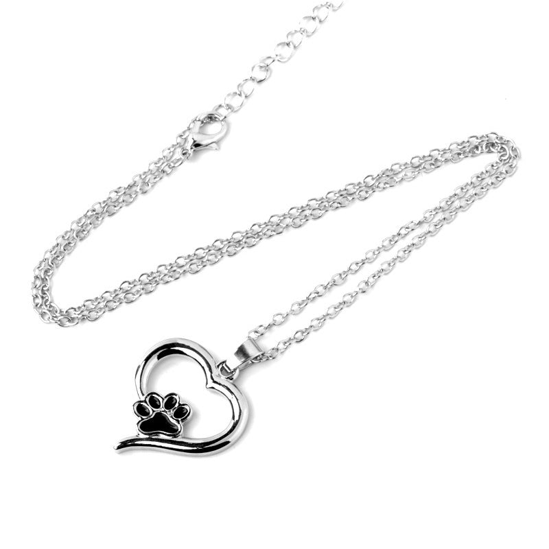 Animal Lovers Heart & Paw Necklace
