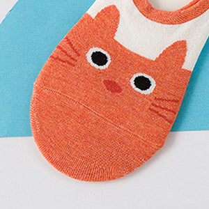 Low Cut Cotton Cat Socks (Pack of 4)
