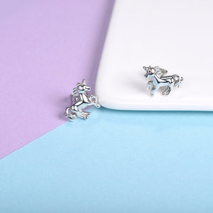 Cute Sterling Silver Unicorn Earrings