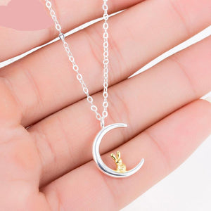 The Rabbit on the Moon Necklace Fashion Necklace