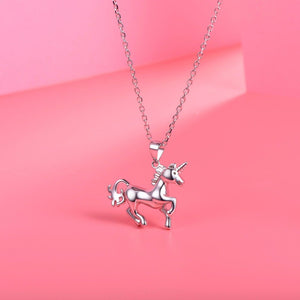 Fabulous Sterling Silver Unicorn  Pendant & Chain
