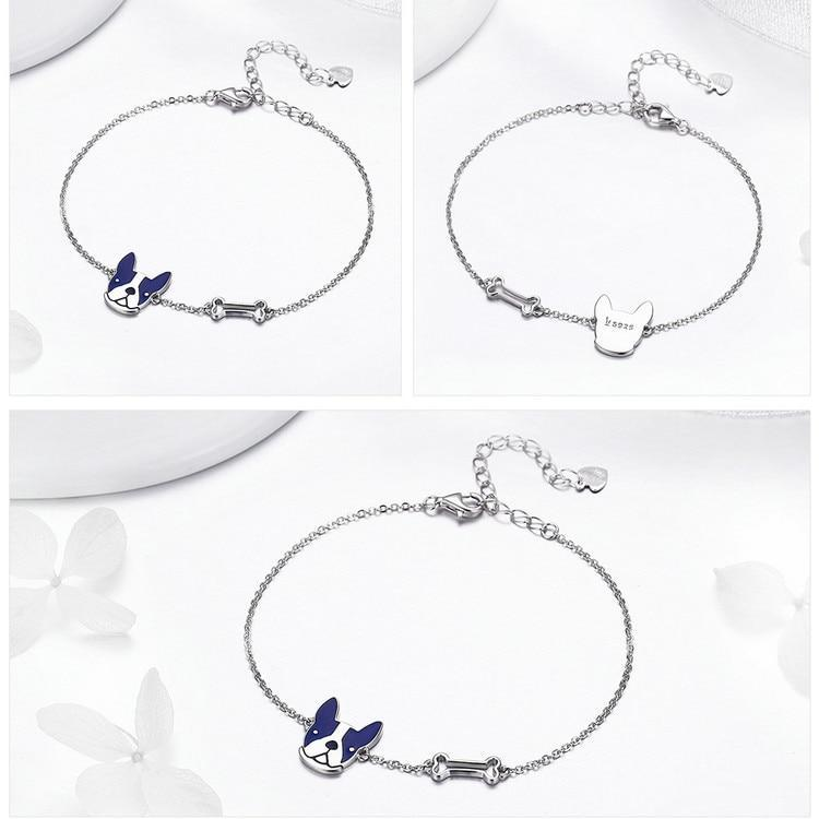 3 pictures of bracelet showing different angles