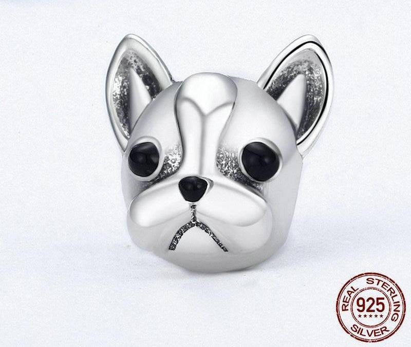French Bulldog head charm for pandora style bracelet