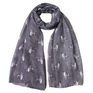 Boston Terrier Print Women's Scarf