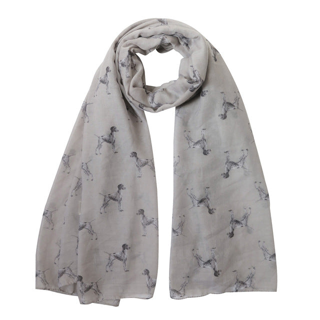 German Shorthaired Pointer Print Women's Scarf