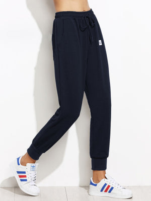 Patch Detail Jogger Pants - moove4fitness