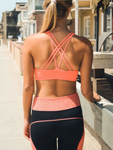 Coral Strappy Sports / Yoga Bra - moove4fitness