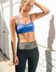 Blue Double Layer Sports / Yoga Bra - moove4fitness
