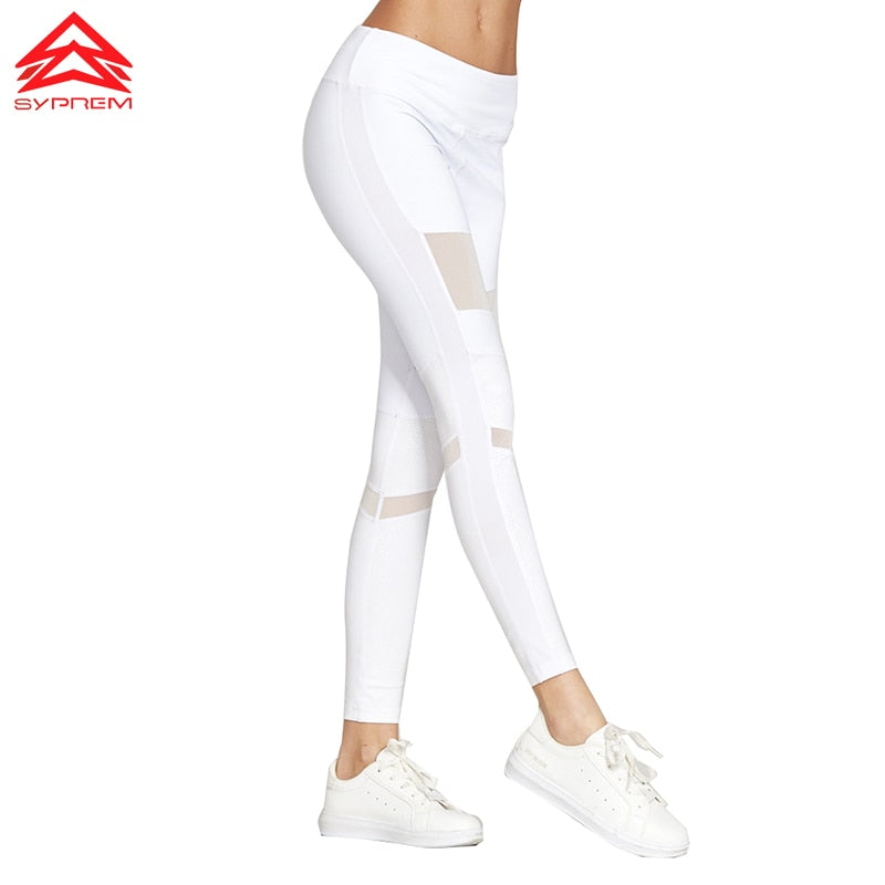 Syprem 2017 Spring Women Sexy Yoga Sports Pants Compression Leggings Hollow Mesh Leggings Gym Skinny Fitness Sportswear,1FP1014 - moove4fitness