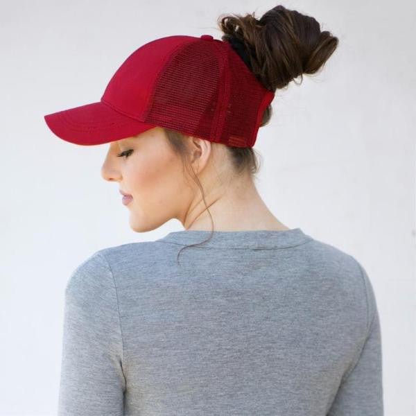 Ponytail Baseball Cap - Assorted Colors - moove4fitness