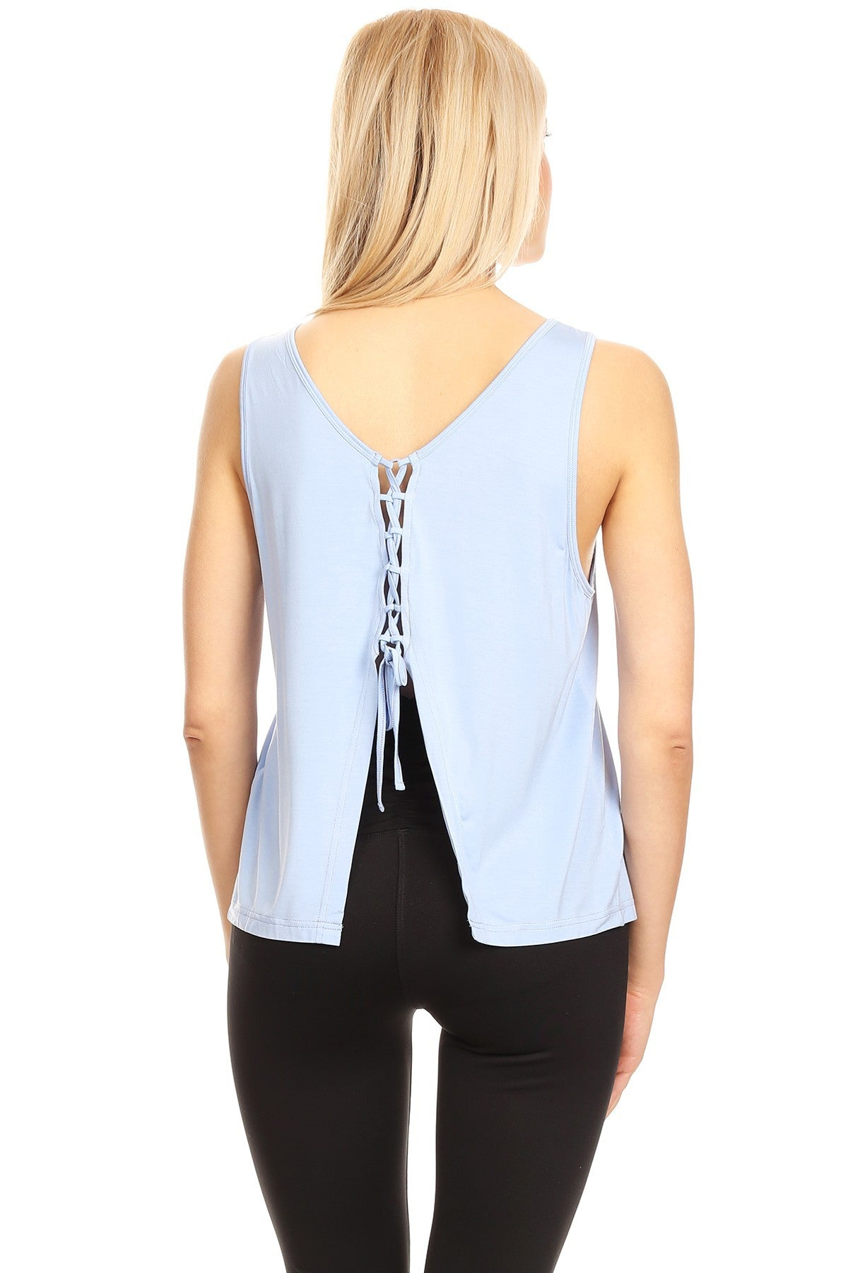 Womens Sleveeless Soft Tank Top With A Butterfly Back Cut Out - moove4fitness