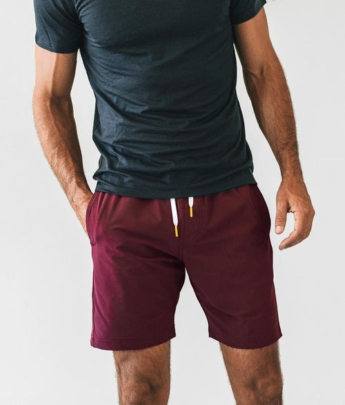 Crimson Plain Shorts - moove4fitness