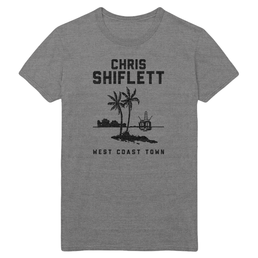 Twin Palms Tee - Grey - Chris Shiflett