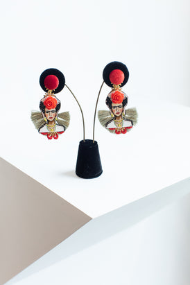 Frida Earrings Red