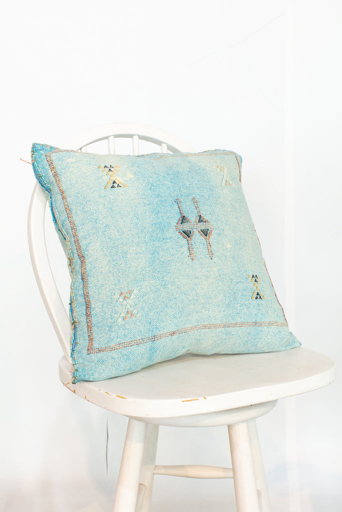 Turquoise Moroccan Kilim Pillow Case