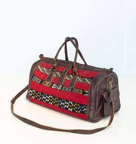 Marrakech Kilim + Leather Duffle