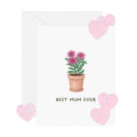 Best Mum w/ Seed Paper Confetti (Mother's Day Card)