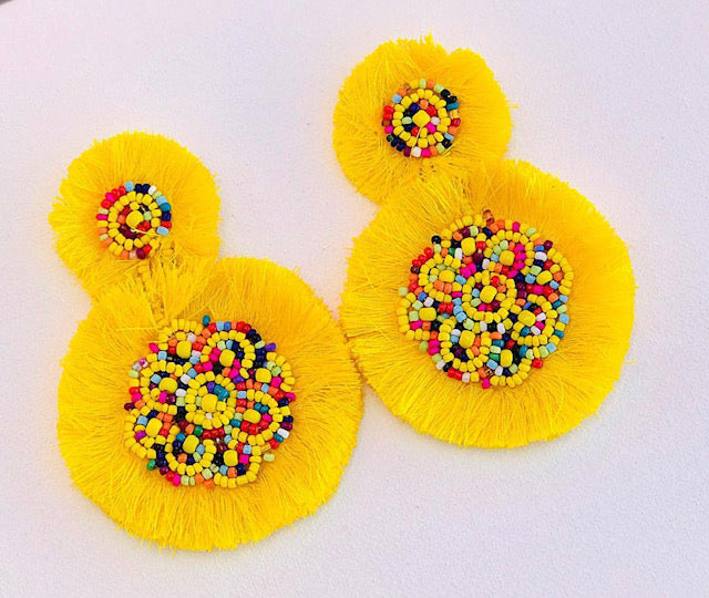 Sunshine Gum Drop Earrings