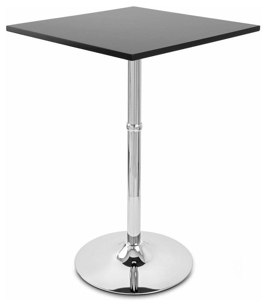 Remarkable Contemporary Bistro Table With Black Satin Finish Top Forskolin Free Trial Chair Design Images Forskolin Free Trialorg