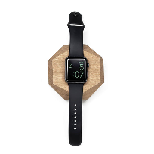 Base para carregamento do Apple Watch | madeira de Carvalho