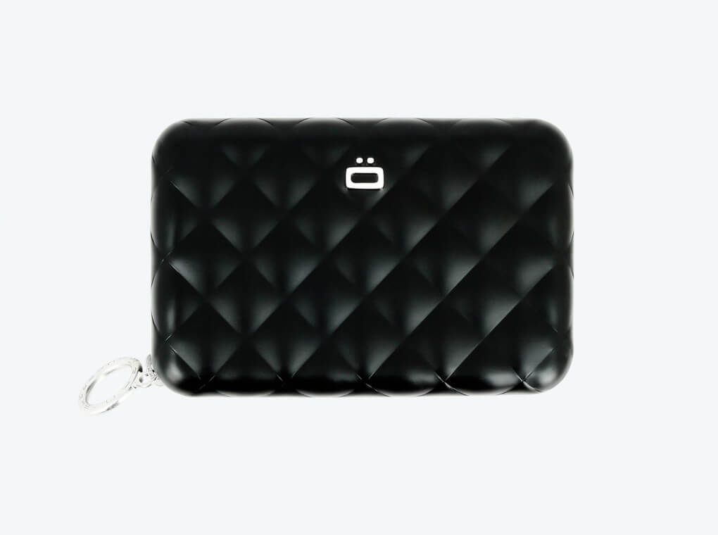 Carteira Quilted com Zipper | Preto