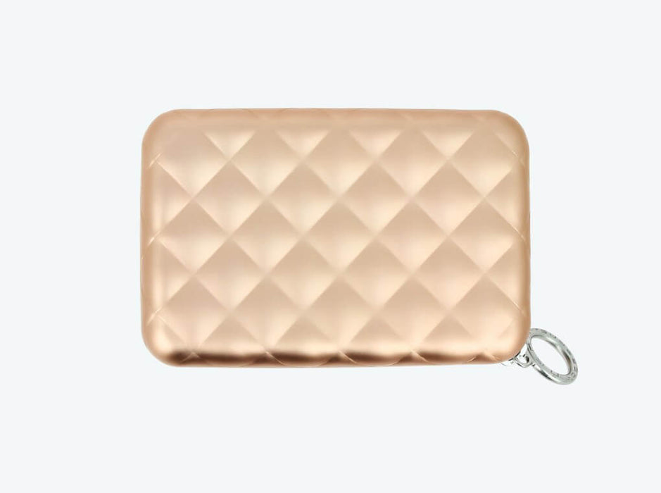 Carteira Quilted com Zipper | Rosa Gold