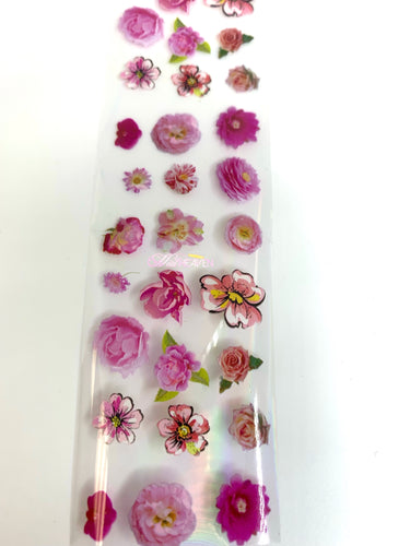 Transparent Flower Foils (7 Colors)
