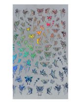 Load image into Gallery viewer, Holographic Butterfly Nail Stickers (8 Styles)