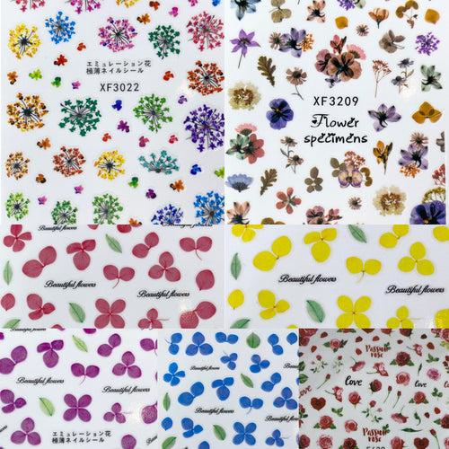 Flower Nail Stickers (7 Styles)