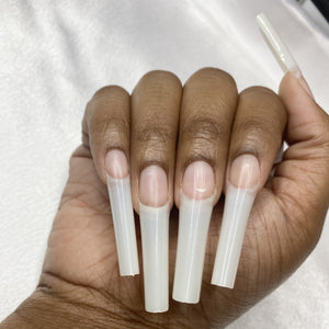 XXL Straight C-Curve Square Nail Tips (2 colors) 500pcs