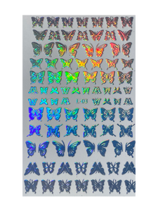 Holographic Butterfly Nail Stickers (8 Styles)