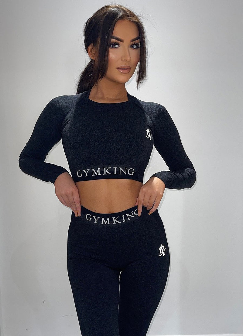 GYM KING-RESULTS CROP TOP TRENNISÄRK