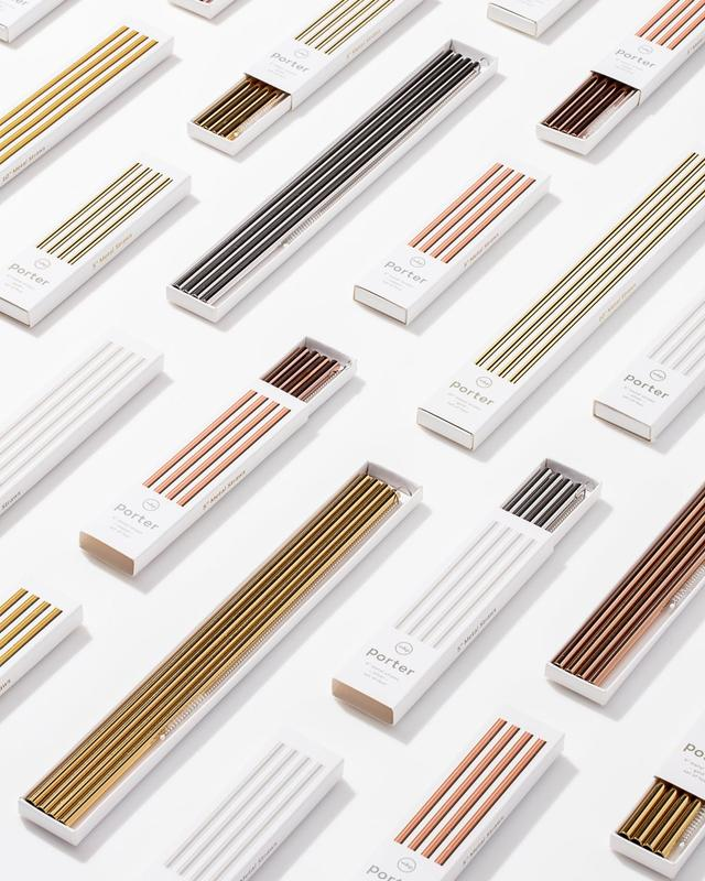 sustainable reusable metal straws silver gold copper