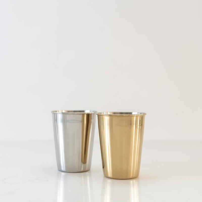 onyx gold and silver stainless steel tumbler