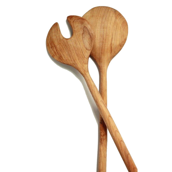 sustainable handmade wooden serving spoons