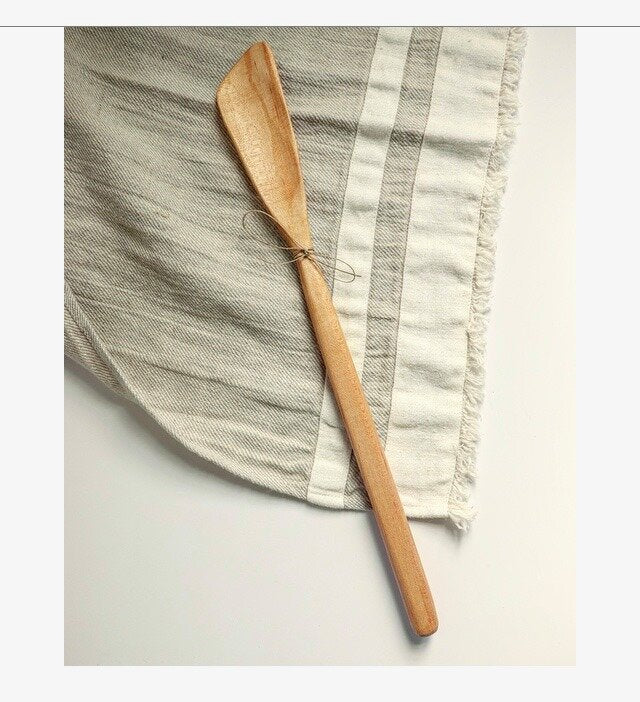 sustainable hand carved kitchen spatula