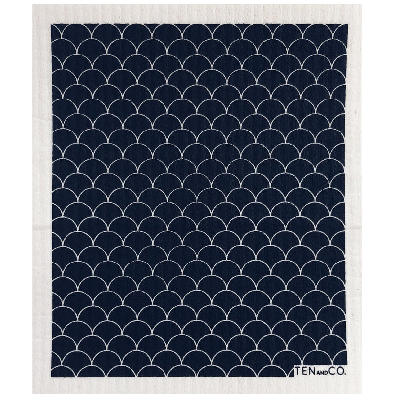 Sponge Cloth Scallop Black