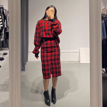 Load image into Gallery viewer, TAEMI Tartan Midi Skirt