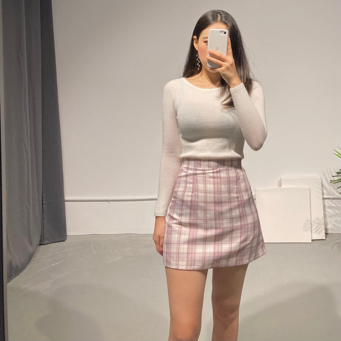 HANA Check Mini Skirt