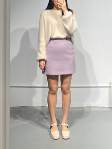 MARI Wool Mini Skirt in Purple